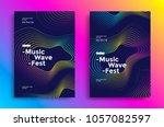 music wave poster design. sound ... | Shutterstock .eps vector #1057082597