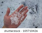 massive hail damage - stock photo