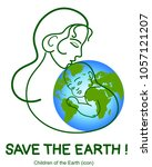 greenpeace. earth day. protect... | Shutterstock .eps vector #1057121207