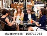 group of happy business... | Shutterstock . vector #105713063