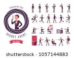 secret agent man  gentleman spy ... | Shutterstock .eps vector #1057144883