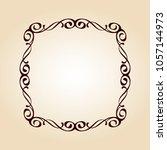 elegant frame.vector... | Shutterstock .eps vector #1057144973