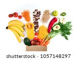 healthy food background.... | Shutterstock . vector #1057148297