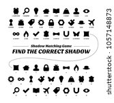 shadow matcing game. printable...   Shutterstock .eps vector #1057148873
