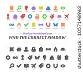 shadow matcing game. find the... | Shutterstock .eps vector #1057148963