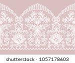 horizontally seamless pink... | Shutterstock . vector #1057178603