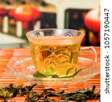 Small photo of Green Chinese Tea Meaning Beverage Refresh And Wellness