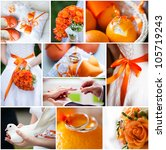 Wedding Collage With Beautiful...