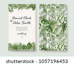 wedding invitations  rsvp... | Shutterstock .eps vector #1057196453