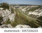 crimea. mountain plateau of... | Shutterstock . vector #1057236233