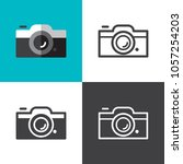 camera icons 2018 | Shutterstock .eps vector #1057254203