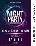 poster for a night party.... | Shutterstock .eps vector #1057272137