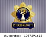 gold emblem or badge with...   Shutterstock .eps vector #1057291613