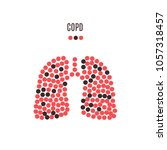 copd awareness poster with... | Shutterstock .eps vector #1057318457