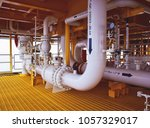 pipeline production and control ... | Shutterstock . vector #1057329017