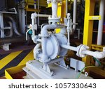 diaphragm pump install on oil... | Shutterstock . vector #1057330643