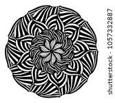 mandalas for coloring book.... | Shutterstock .eps vector #1057332887