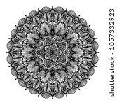 mandalas for coloring book.... | Shutterstock .eps vector #1057332923