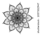 mandalas for coloring book.... | Shutterstock .eps vector #1057332947