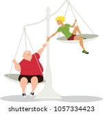 woman offering a helping hand... | Shutterstock .eps vector #1057334423