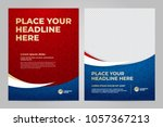 Layout Template design of the poster for sport event, 2018 trend | Shutterstock vector #1057367213