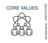 core values outline icon w... | Shutterstock .eps vector #1057372787