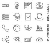 thin line icon set   check... | Shutterstock .eps vector #1057423337