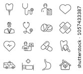 Thin Line Icon Set   Heart...