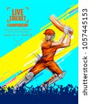 illustration of batsman playing ... | Shutterstock .eps vector #1057445153