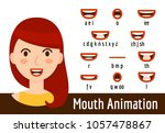 phoneme mouth shapes collection ... | Shutterstock .eps vector #1057478867