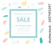 trendy sale banner design with... | Shutterstock .eps vector #1057492397