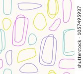 seamless pattern with brush... | Shutterstock .eps vector #1057495937