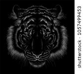 the vector logo tiger for t... | Shutterstock .eps vector #1057499453