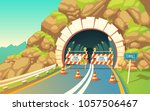 vector cartoon illustration of... | Shutterstock .eps vector #1057506467