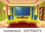 vector cartoon home theater ... | Shutterstock .eps vector #1057506473