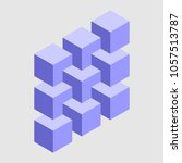 none isometric cubes  optical... | Shutterstock .eps vector #1057513787