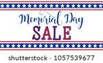 memorial day sale banner... | Shutterstock .eps vector #1057539677
