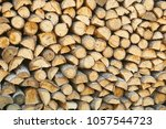 firewood for the winter  stacks ... | Shutterstock . vector #1057544723