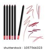 cosmetic make up eye liner set... | Shutterstock . vector #1057566323
