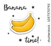 banana sticker. fashion patch... | Shutterstock .eps vector #1057570793