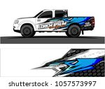 truck graphic kit. abstract ... | Shutterstock .eps vector #1057573997