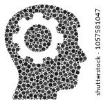 intellect gear collage of... | Shutterstock .eps vector #1057581047