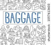 luggage background. various... | Shutterstock . vector #1057613603