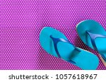Womens Shoes  Blue Green Flip...
