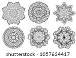 set of mandala indian floral... | Shutterstock .eps vector #1057634417
