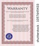 red warranty template. witred... | Shutterstock .eps vector #1057645433