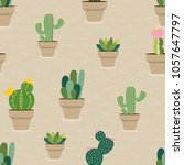vector seamless pattern with... | Shutterstock .eps vector #1057647797