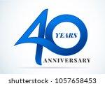 40 years anniversary... | Shutterstock .eps vector #1057658453
