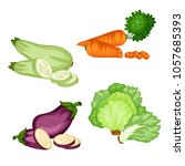 cartoon illustration of tasty... | Shutterstock .eps vector #1057685393