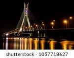 lekki   ikoyi bridge in lagos... | Shutterstock . vector #1057718627